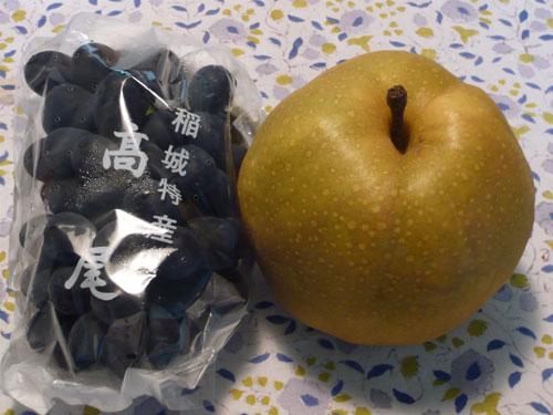 稲城の梨と高尾のぶどう