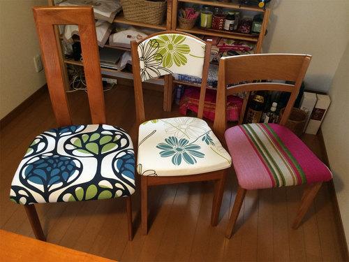 張り替えた椅子