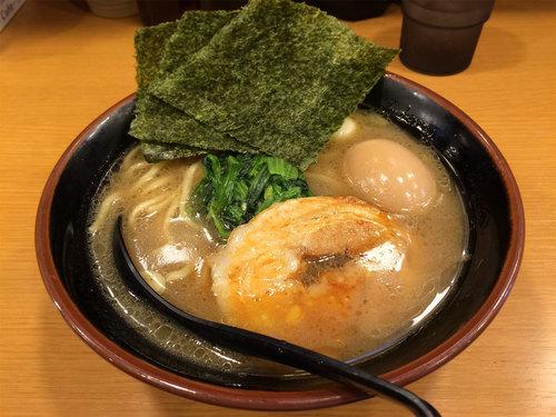 調布道場 ラーメン+味玉