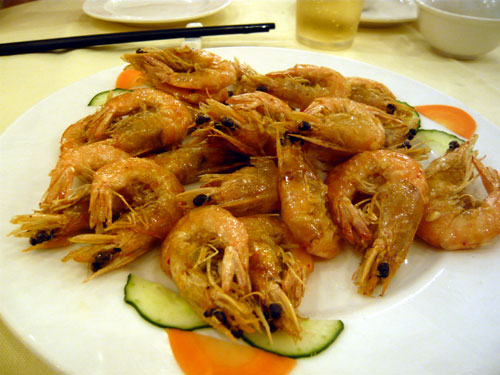 海南島旅行 食事編 東郊椰林海鮮城 エビ料理