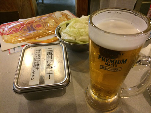 ビールとソース