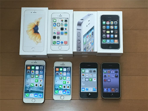 歴代のiPhone