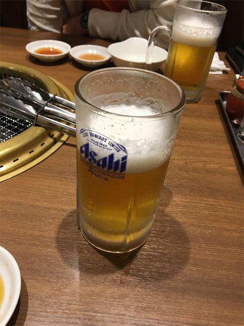 鶯谷園 生ビール