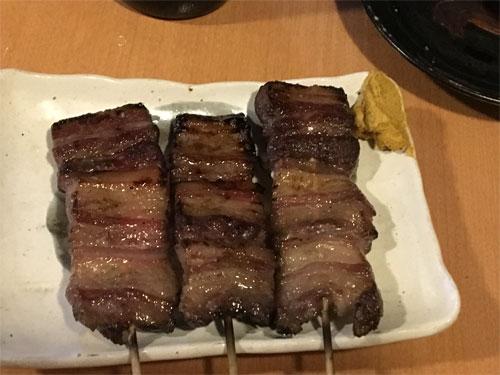 イノシシの串焼き